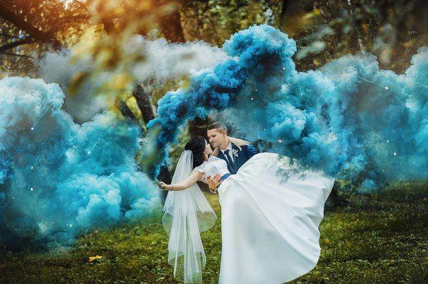 цветной дым для фото