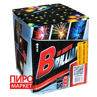 """Cалют Brilliant GP602, калибр 30 мм. 16 зар."" фото"