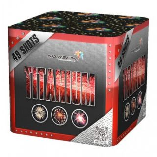 """Салют Titanium Red SB-49-01, калибр 30 мм. 49 зар"" фото"