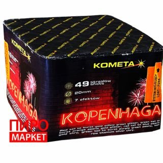 """Салют Kometa Kopenhaga P7258, калибр 20 мм, 49 зар"" фото"