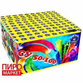 """Салют Феерия СУ50-100 калибр 45 мм.  100 зар"" фото"