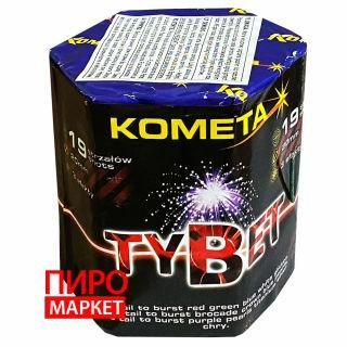 """Салют Kometa Tybet P7092 калибр 20 мм. 19 зар."" фото"